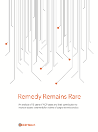 Remedy remains rare - OECD Watch