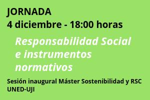 Jornada: Responsabilidad social e instrumentos normativos