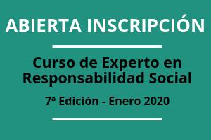 Apertura de inscripción. 7ª edición del Curso de Experto en Responsabilidad Social