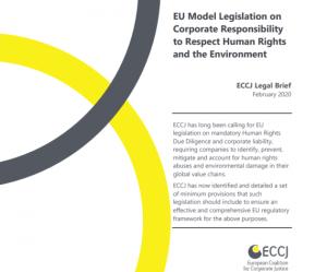 Propuesta de legislación europea sobre debida diligencia