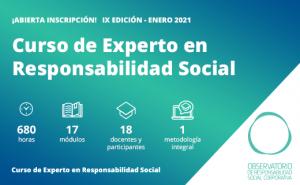 Abierta inscripción. IX edición del Curso de Experto en Responsabilidad Social